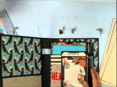 Scrapbook Mini Album: Vertical Paper Bag Album Part 4