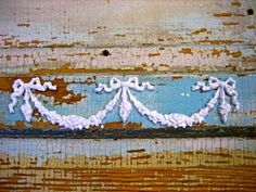 SHABBY-CHIC-ROSE-CENTER-w-SWAGS-FURNITURE-APPLIQUES-FREE-SHIPPING