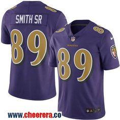 Men's Baltimore Ravens #89 Steve Smith Sr Purple 2016 Color Rush Stitched NFL Nike Limited Jersey