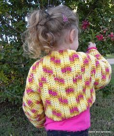 Swirls and Sprinkles: Child size shrug pattern