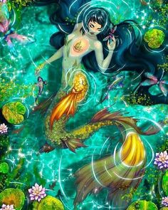 I love all fantasy and mythical stuff, but my favorite ones are mermaids.So this is a collection of mermaid images I've been picking all over the internet. Siren Mermaid, Mermaid Fairy, Mermaid Tale, Fantasy Mermaids, Mermaids And Mermen, Magical Creatures, Fantasy Creatures, Fantasy World, Fantasy Art