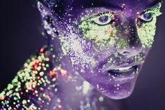 Fotógrafo utiliza maquillaje neón para crear innovadoras fotos   Juventud Fotográfica