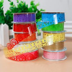 1PCS Lace Tape Decoration Roll Candy Colors DIY Washi Decorative Sticky Paper Masking Tape Self Adhesive Tape Scrapbook Tape #>=#>=#>=#>=#> Click on the pin to check out discount price, color, size, shipping, etc. Save and like it!