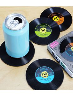 Get your music-loving BF these record coasters!