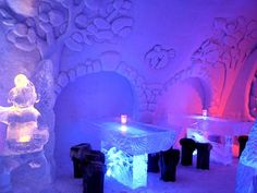 Snow castle built every year in Kemi Finland.   Opens in January and closes in April- before it melts.