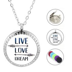 Damen Edelstahlkette Live - Love - Dream Love Dream, Live Love, Washer Necklace, Piercing, Jewelry, Crystals, Women's, Jewlery, Jewerly