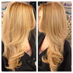 Blonde blonde blonde! Hair color cut blowout by Lala Khajavi <3