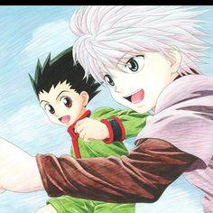 What friendship Looks like #hunterxhunter#anime#gon#killua#