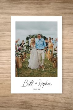 12 Best Rustic Wedding Photo Thank You Cards