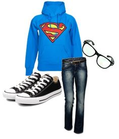 Superman & Chuck Taylors.<3 NEED THIS OUTFIT.