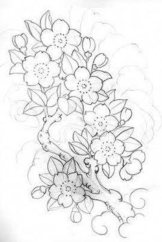 drawings of cherry blossom sunflower design Japanese Tattoo Art, Japanese Tattoo Designs, Japanese Sleeve Tattoos, Flower Tattoo Designs, Flower Tattoos, Japanese Art, Japan Tattoo, Flor Oriental Tattoo, Cherry Blossom Drawing