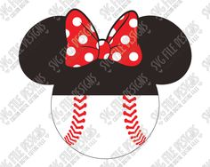Minnie Mouse Softball SVG Cut File Set for Girl's Disney Shirts and Tumblers Baseball Party, Baseball Mom, Baseball Shirts, Softball, Disney Girls, Disney Princess, Easter Pillows, Cricket Crafts, Fashion Design Drawings