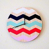 Cutest Chevron Clock