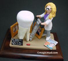 Root Canal Dentist's Gift - Custom Made Female Endodontist Figurine