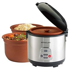 Look at this - Vitaclay Slow Rice Cooker, 8 cups