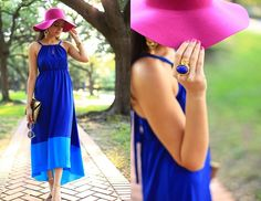 beautiful Casual wear  Cobalt and Fuschia (by Layla Asgari)