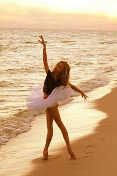 Ballet on the beach--we are doing this as our wake up when we go camping guys!!!