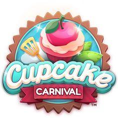 Cupcake Carnival on Behance Cupcake Logo, Game Logo Design, Mobile Logo, Gaming Banner, Video Game Logos, Game Title, Game Interface, Game Icon, Art Logo