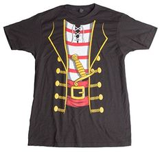 Pirate Buccanneer Jumbo Print Novelty Halloween Costume Unisex TshirtAdultXL -- You can find more details by visiting the image link. Pirate Halloween Costumes, Halloween Shirt, T Shirt Costumes, Adult Costumes, Super Hero Outfits, Thing 1, Character Costumes, Nice Tops, Funny Shirts