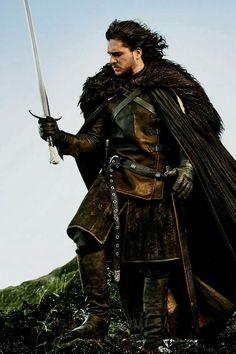 Kit Harington - Jon Snow game of Thrones Kit Harington, Game Of Thrones Saison, Got Game Of Thrones, John Snow, Winter Is Here, Winter Is Coming, Larp, Costumes Game Of Thrones, Jon Schnee