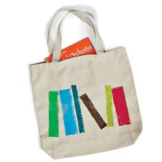Stamped Book Bag for your trips to the library
