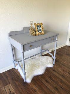 Grey Bamboo Desk