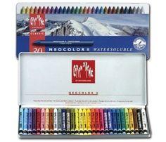 Caran dAche - lápices de colores - Neocolor II - el agua - con 30pcs Caso
