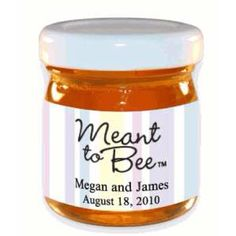 Small Jars for Wedding Favors | Meant to Bee. Mini honey jars. Wedding favor idea. Really cute.