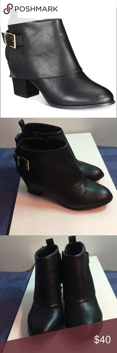 Thalia Sodi Black Booties Wore them once but they really don't match anything from my closet. However, they're very cute and in excellent condition.  Bundle and save more! Thalia Sodi Shoes Ankle Boots & Booties