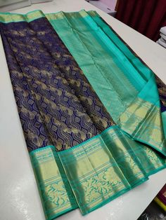 Ping me in 9171814428 for price details.. Pure kanchipuram silk sarees handwoven with 2 g pure jari exclusive bridal collection Pure Silk Sarees, Bridal Collection, Hand Weaving, Pure Products, Quilts, Blanket, Wedding, Fashion, Valentines Day Weddings