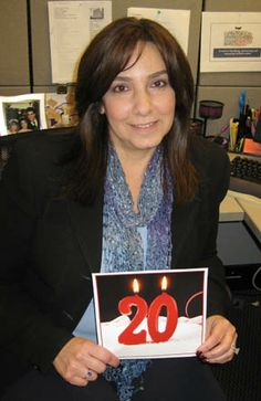 20 years!  Wow - Lori Sin Rossini, CSP, Director of Research & Recruitment has been sourcing & identifying great talent for two decades!