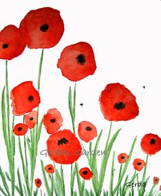 Items similar to Poppies watercolor print on Etsy Remembrance Day Activities, Remembrance Day Poppy, Watercolor Poppies, Watercolor Print, Art Et Illustration, Illustrations, Veterans Day Celebration, Australia Crafts, Poppy Craft