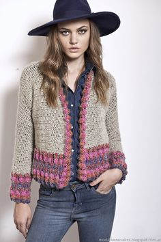 ideas crochet cardigan women jackets sweater coats for 2019 Crochet Coat, Crochet Jacket, Crochet Cardigan, Crochet Shawl, Crochet Clothes, Handgestrickte Pullover, Sweater Coats, Sweaters, Mode Crochet