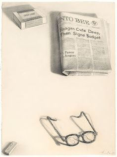 View Spectacles and Bee Still Life by Wayne Thiebaud on artnet. Browse upcoming and past auction lots by Wayne Thiebaud. Wayne Thiebaud, Edward Hopper, Drawing Sketches, Art Drawings, Drawing Artist, Zentangle, Pop Art Movement, Still Life Drawing, Emotion
