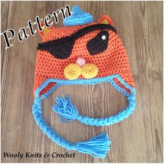 INSTAND DOWNLOAD,Crochet pattern, Octonauts Kwazii hat,  5 sizes,  PDF file, instand download by WoolyKnitsandCrochet on Etsy