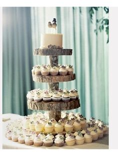 wood cup cake stand