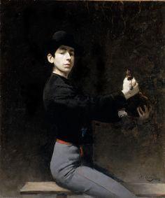 Ramón Casas (1866-1932) • Autoretrat, 1883