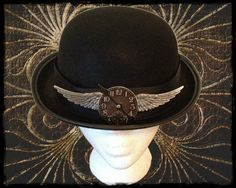 Steampunk Bowler Hat- Time Flies Derby. $39,00, via Etsy.