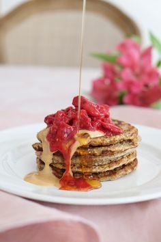 Rýchle raňajkové lievance z ovsených vločiek