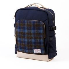 Sweetch backpack L navy x Harris tweed