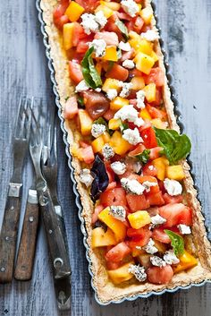 Heirloom Tomato Tart With Herb Goat Cheese