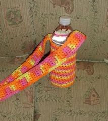 Ravelry: Over the Shoulder Water Bottle Holder pattern by Deneen St Amour
