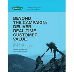 Forrester Research : Events Overview : Forrester's Forum For Marketing Leaders Consumers are exposed to a tremendous number of marketing messages. How can you break free from the rigid, batch-based campaign orientation that keeps you from delivering immediate value to your customers? #marketing