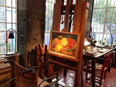 Frida's studio at Casa Azul. #casaazul #fridakahlo #painting #studio