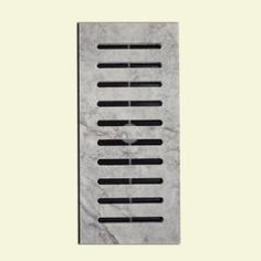 MSI MS International Silver Honed Travertine 5 in. x 11 in. Floor Vent Register Tile Edging - The Home Depot Floor Vent, Tile Floor, Vent Registers, Kitchen Mosaic, Tile Edge, Pool Coping, Tile Manufacturers, Tile Trim, Travertine Tile