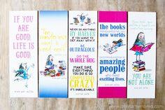 artsy-fartsy mama: Free Printable Roald Dahl Bookmarks