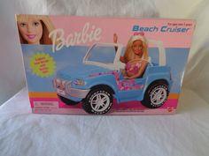 BARBIE BEACH CRUISER BLUE CAR 1999 NEW #Mattel