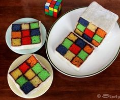 Rubik's Battenburg Cake. Been wanting to make this one for a while now.