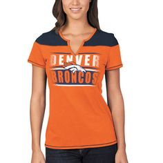Women's Chicago Bears Majestic Navy/Orange Football Miracle T-Shirt