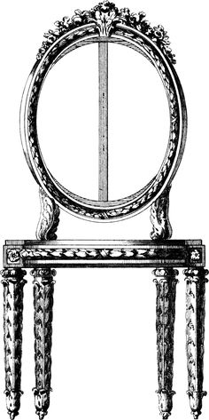 vintage chair clip art, black and white clipart, antique ...